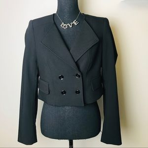 White House Black Market cropped blazer